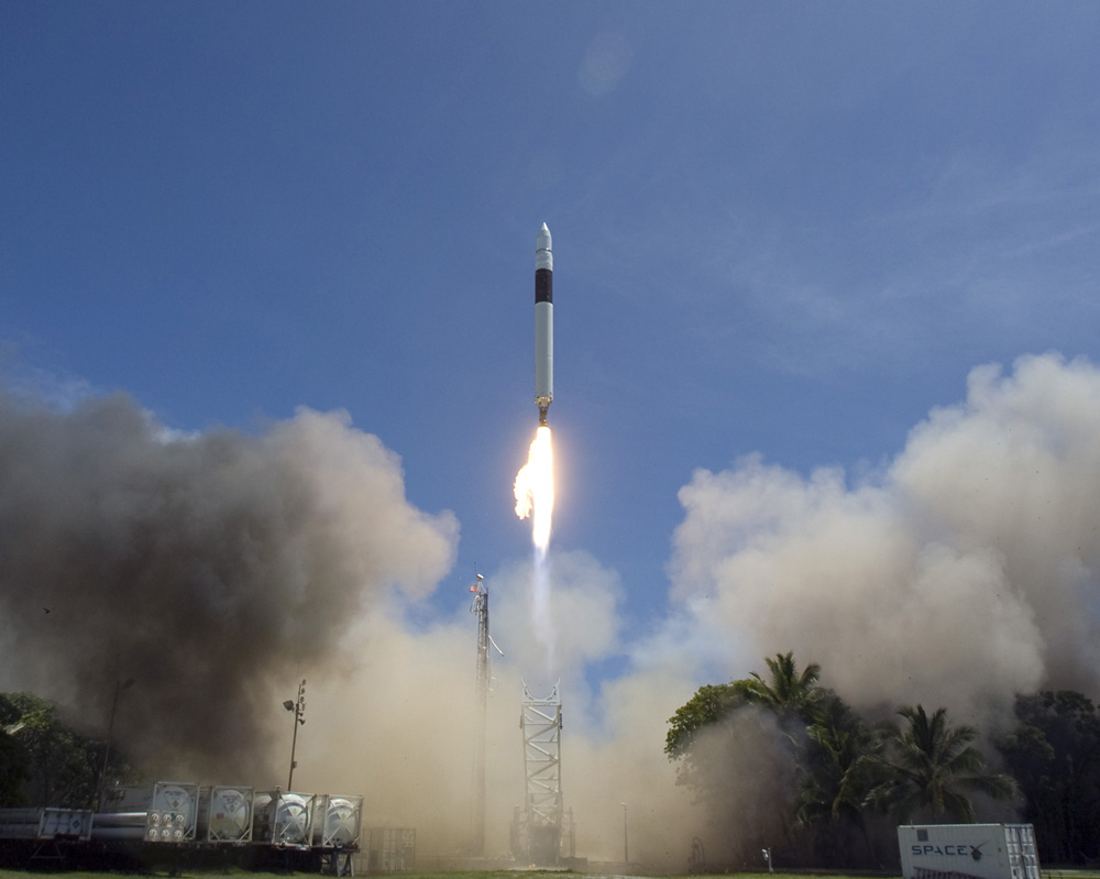 Space X Launched Falcon 1 on September 28, 2008