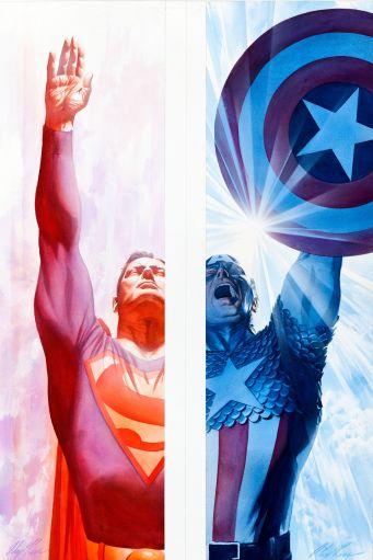 Superman / Captain America by Alex Ross