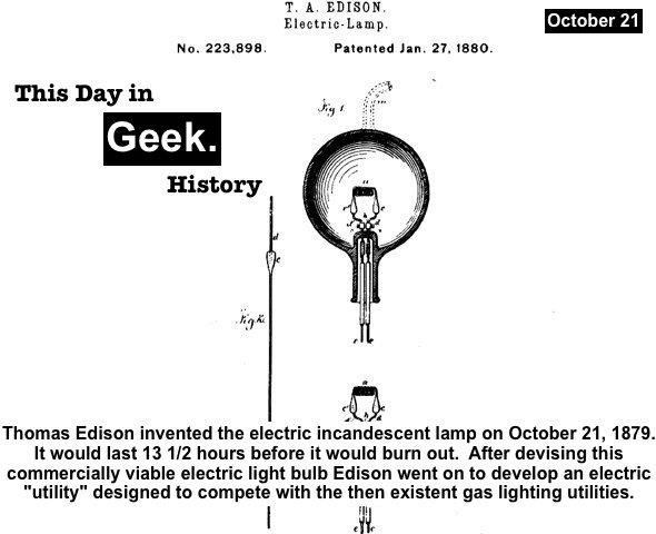 Thomas Edison 10/21