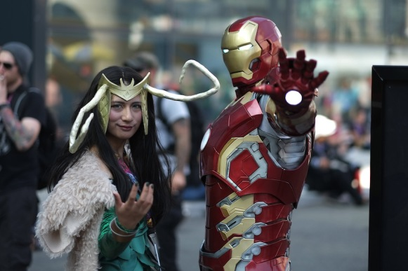 NEW YORK, NY - OCTOBER 07: Cosplayer's dressed as Loki and Iron Man attend the New York Comic Con 2016 at The Jacob K. Javits Convention Center on October 7, 2016 in New York City. New York Comic Con is one of the largest comic book and science fiction conventions. The convention brings together fans of fantasy role playing, science fiction, movies and television. (Photo by Neilson Barnard/Getty Images)