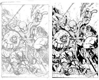 Hulk | Wolverine | Spider-Man | Spider-Woman by Joe Madureira