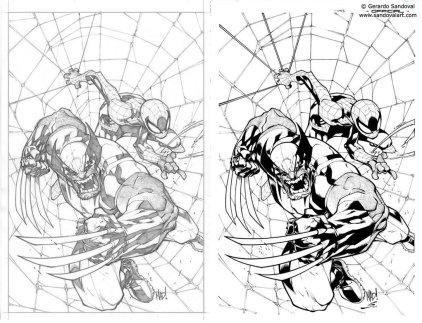 Wolverine | Spider-Man by Joe Madureira