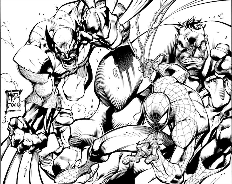 Wolverine | Hulk | Spider-Man by Joe Madureira