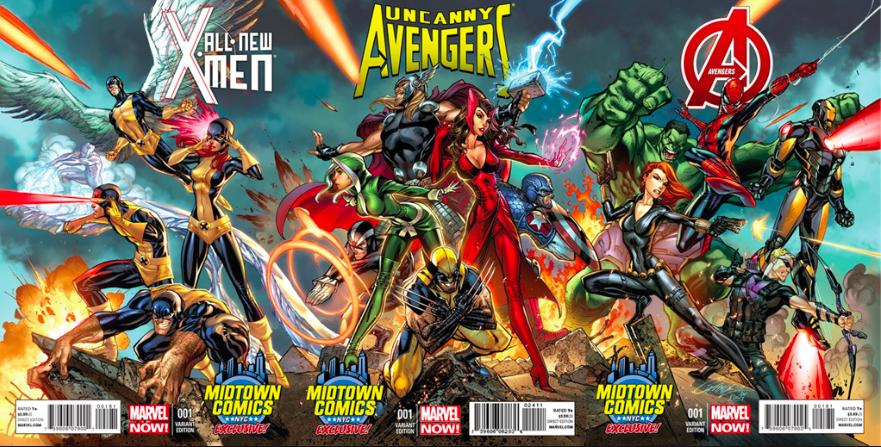 X-Men   Avengers Variants by J. Scott Campbell