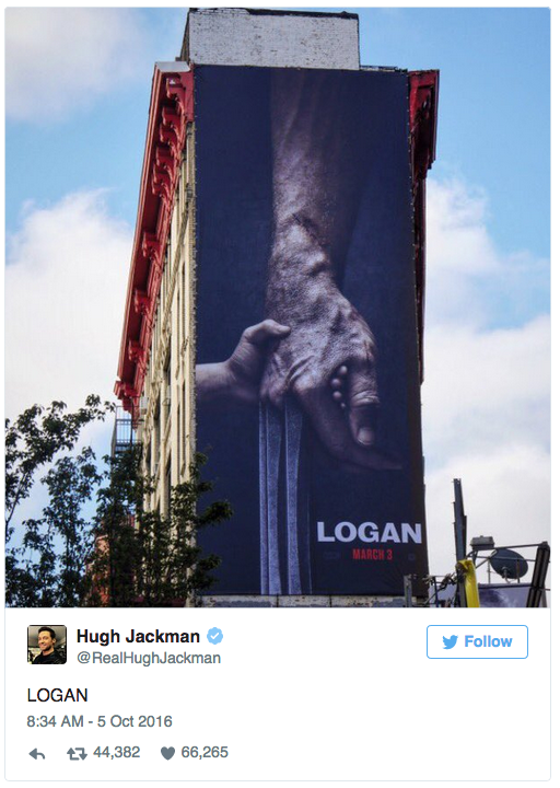 Hugh Jackman Tweet Logan