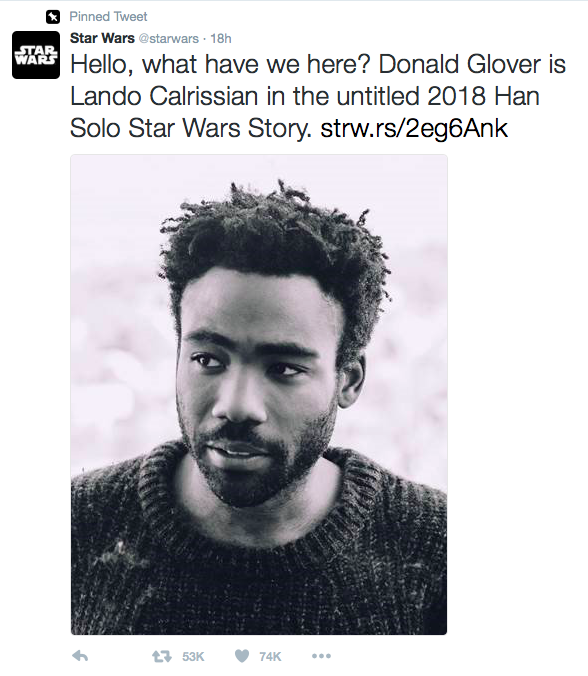 Donald Glover Lando Calrissian