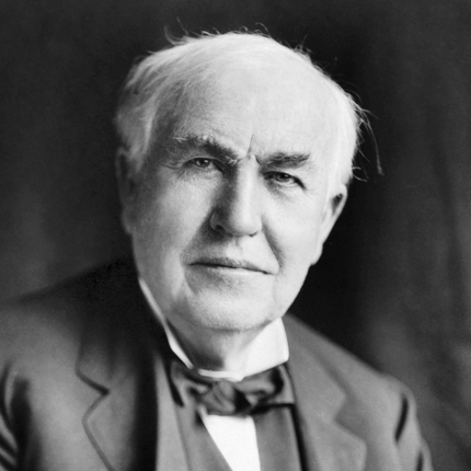 Thomas Edison invented the first commercially viable electric light bulb10/21/1879