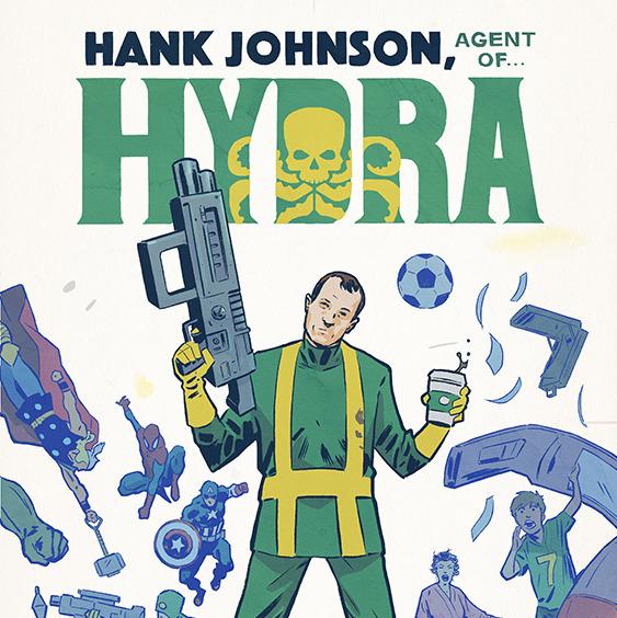 Hank Johnson, Agent of Hydra #1 Cover Art w/Variant