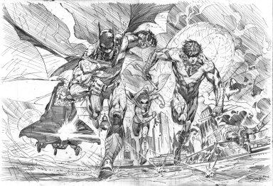 Ardian Syaf Pencils - Batman | Robin | Nightwing