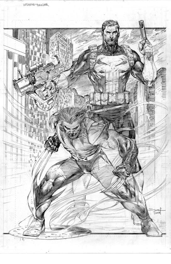 Ardian Syaf Pencils - Punisher | Wolverine
