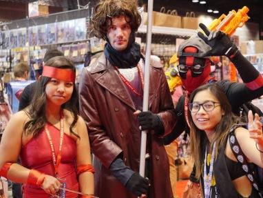 C2E2 2017 Cosplay - Elektra | Gambit | Deadpool