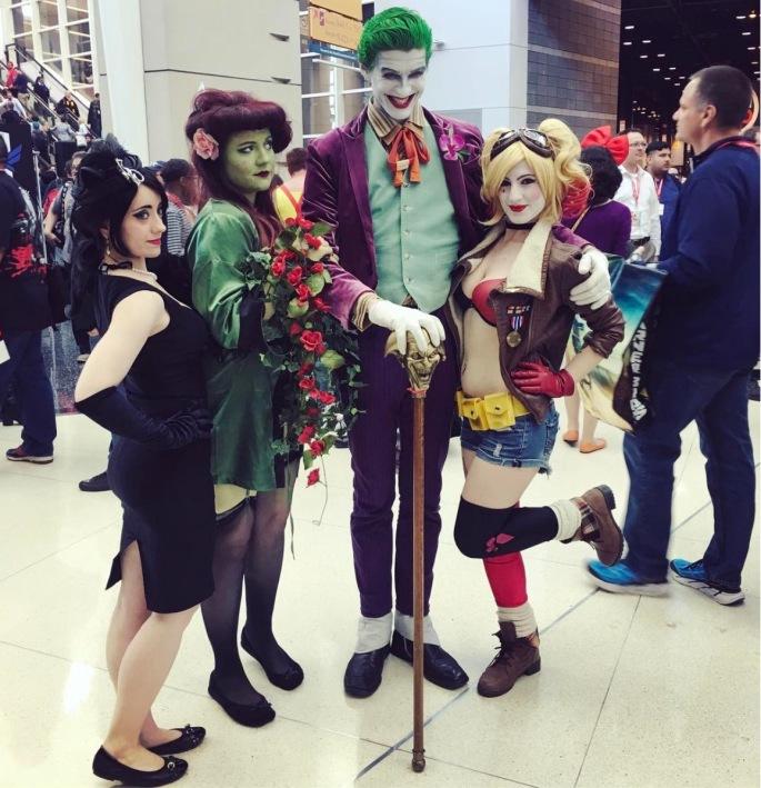 C2E2 2017 Cosplay - Joker | Harley Quinn | Poison Ivy