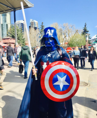 CalgaryExpo 2017 Cosplay - Darth Vader (Captain America)