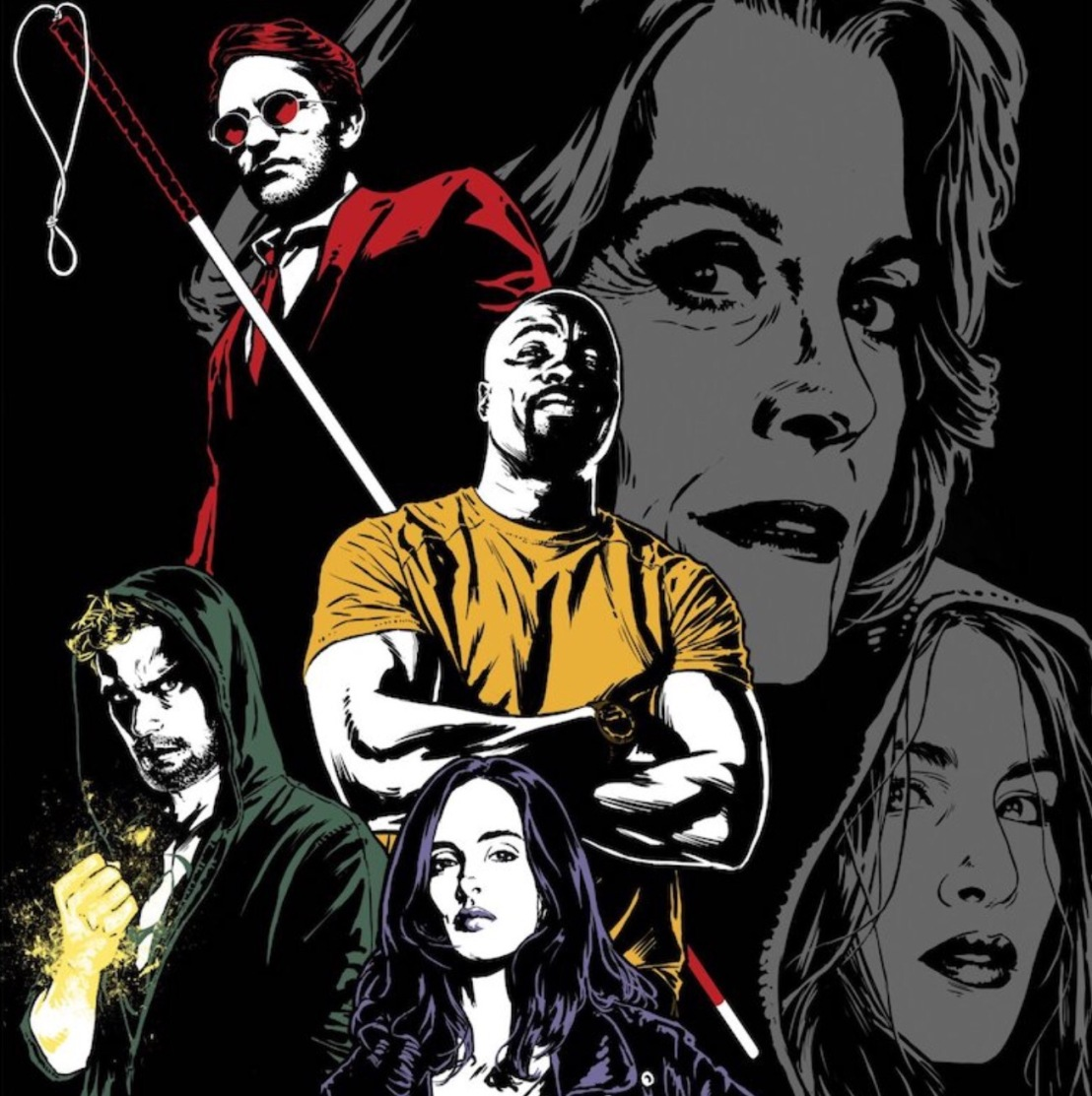 Joe Quesada art for Netflix's upcoming Defenders series