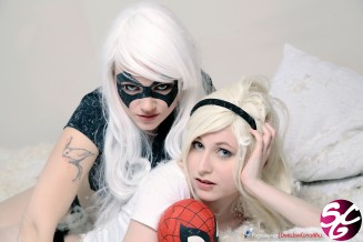 Spider-Gwen & Black Cat Cosplay 11