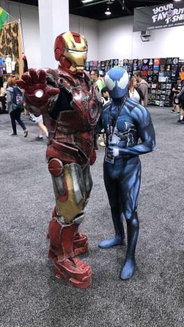WonderCon 2017 Cosplay - Black Suit Spider-Man | Iron Man