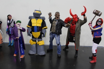 Comicpalooza 2017 - Joker | Robot | Killer Croc | Hellboy | Harley Quinn