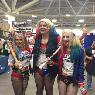 Wizard World Minneapolis 2017 - Harley Quinns
