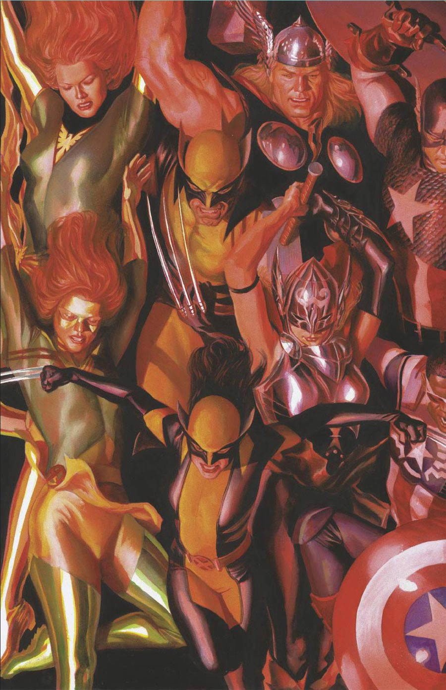 Generations Phoenix & Jean Grey #1 Cover D Incentive Alex Ross Connecting A Variant Cover